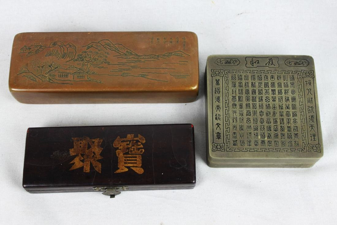 Antique Chinese Ink boxes.