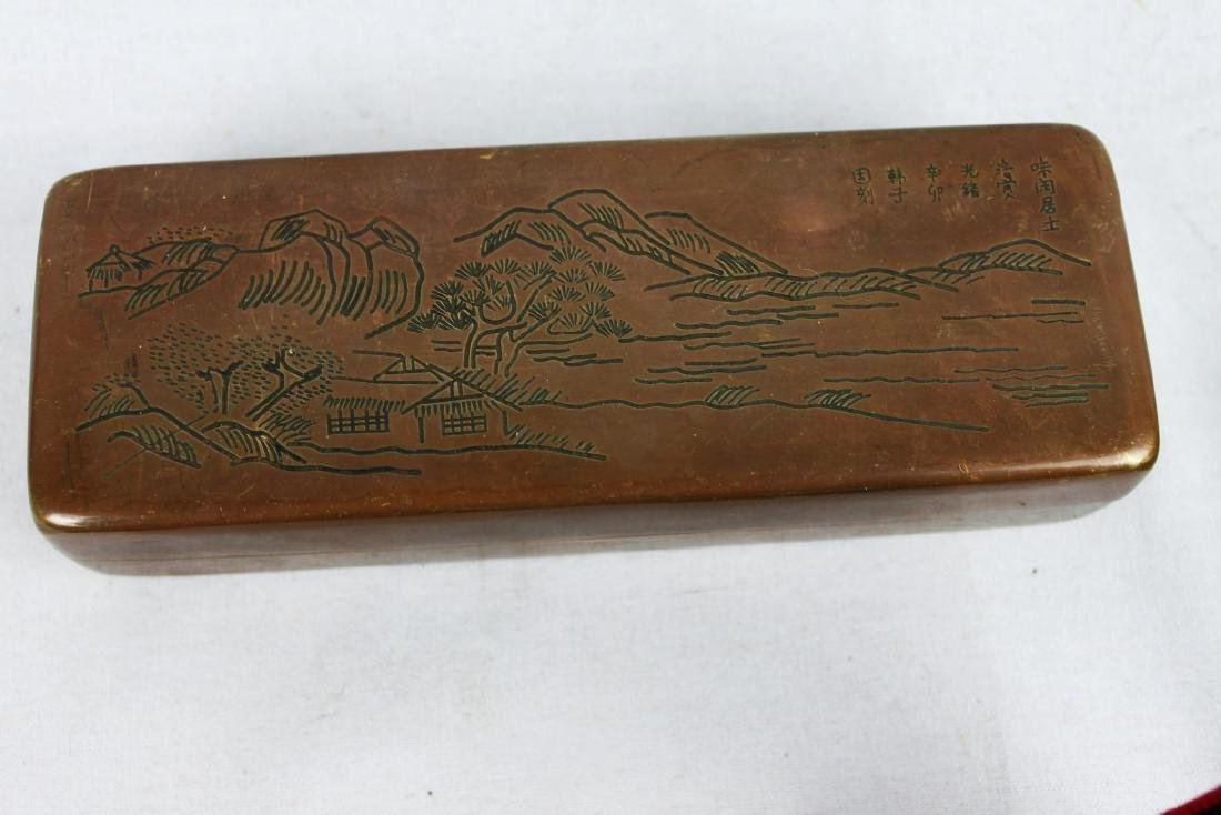 Antique Chinese Ink boxes. - 6