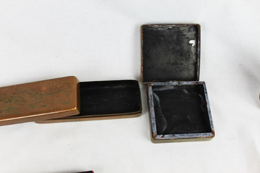 Antique Chinese Ink boxes. - 7