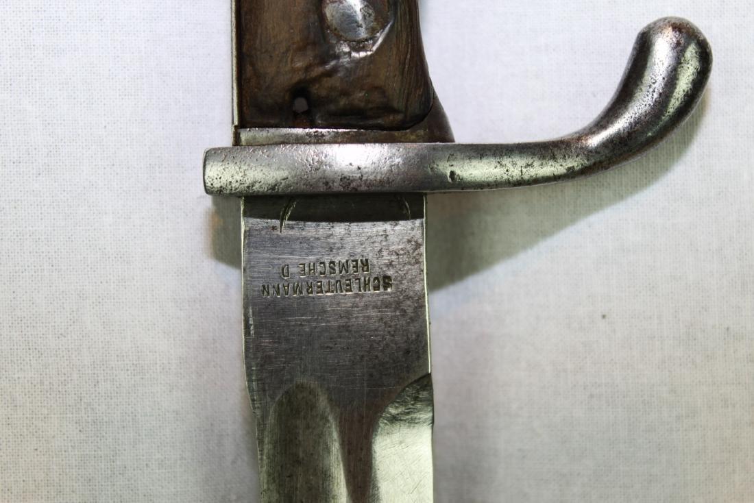 Antique WWI German Butcher Bayonet Around 1900s - 9