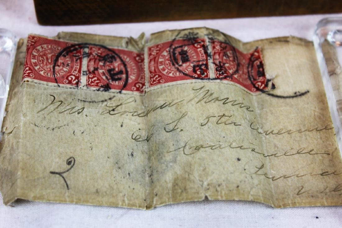 Antique Chinese Dragon Stamps from 1900s'