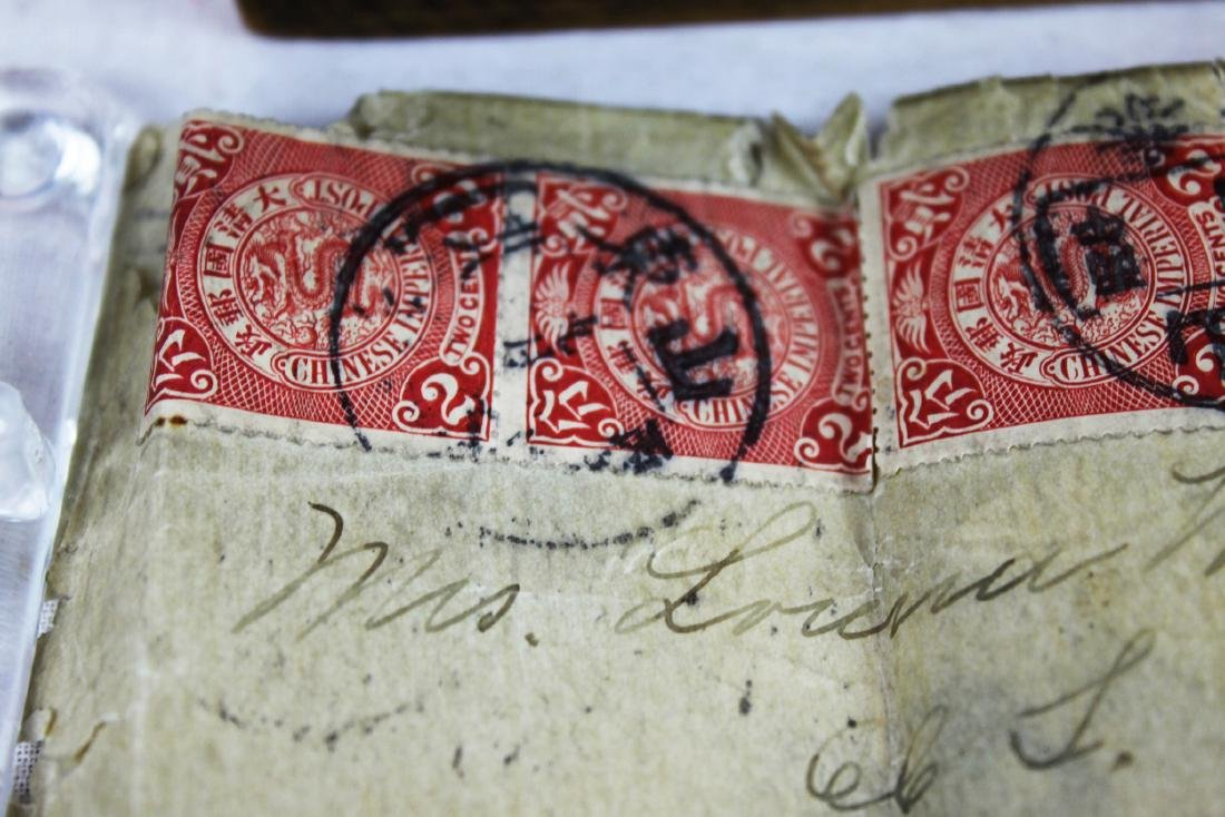 Antique Chinese Dragon Stamps from 1900s' - 2