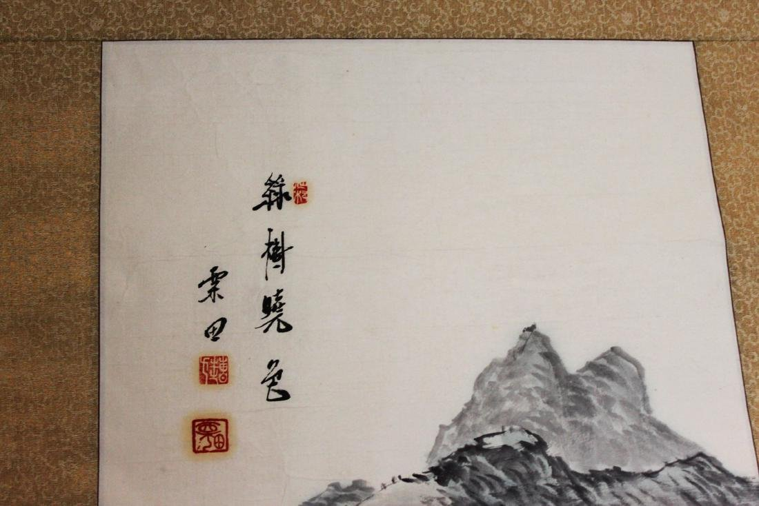 Antique Chinese Brush Scroll Painting - 3