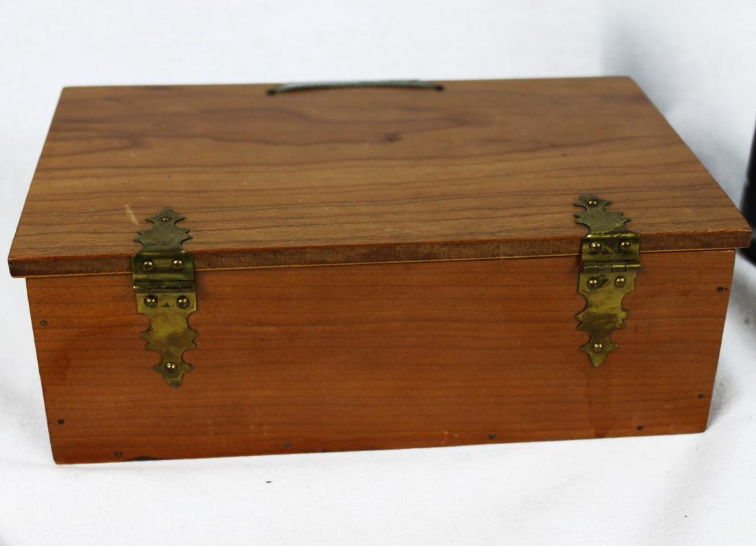 Antique Dominoes in Wood Box - 10