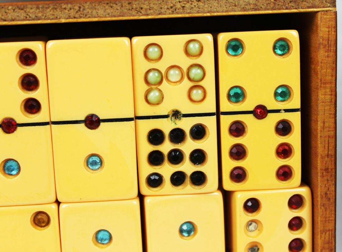 Antique Dominoes in Wood Box - 7