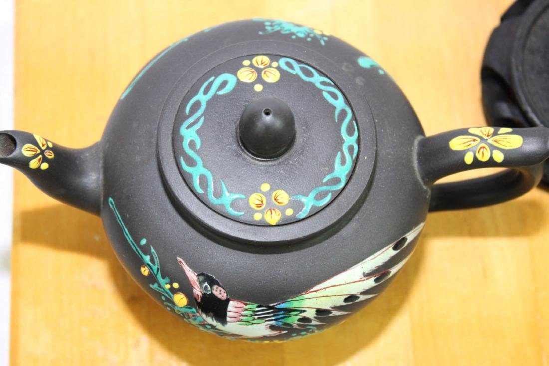 Chinese Yi Xing Zisha Teapot w/ wood stand - 10