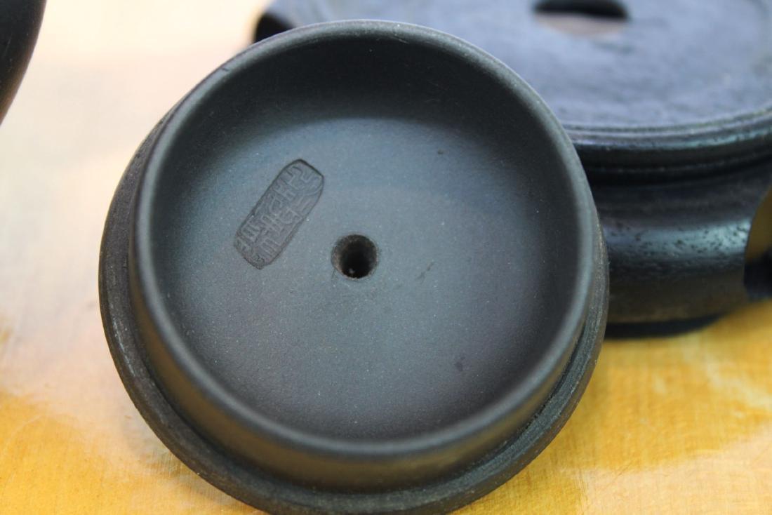 Chinese Yi Xing Zisha Teapot w/ wood stand - 8