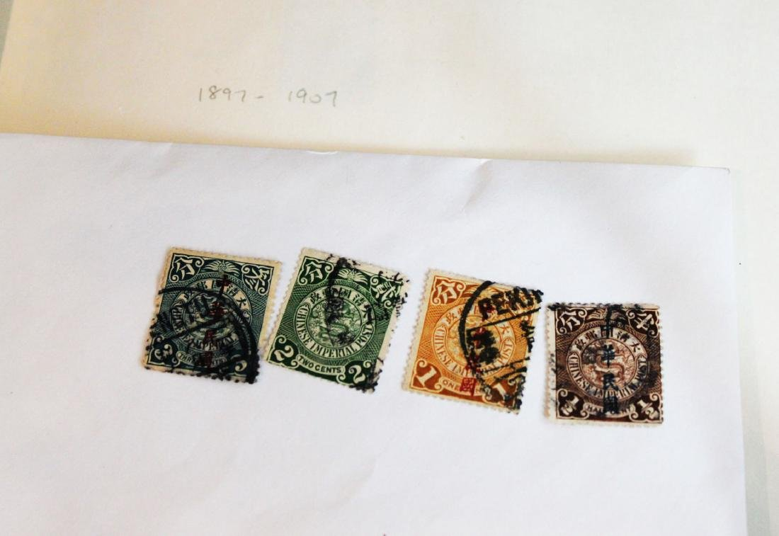 Four Antique Chinese Stamps 1900s'