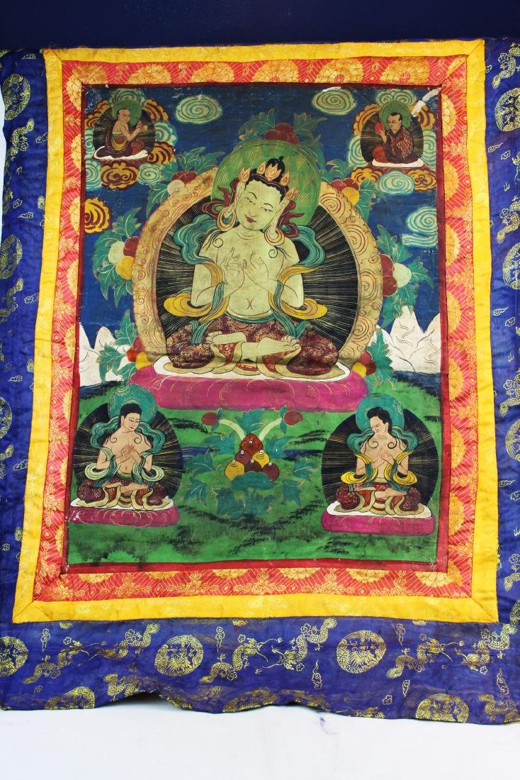 Antique Tibetan Silk Thangka