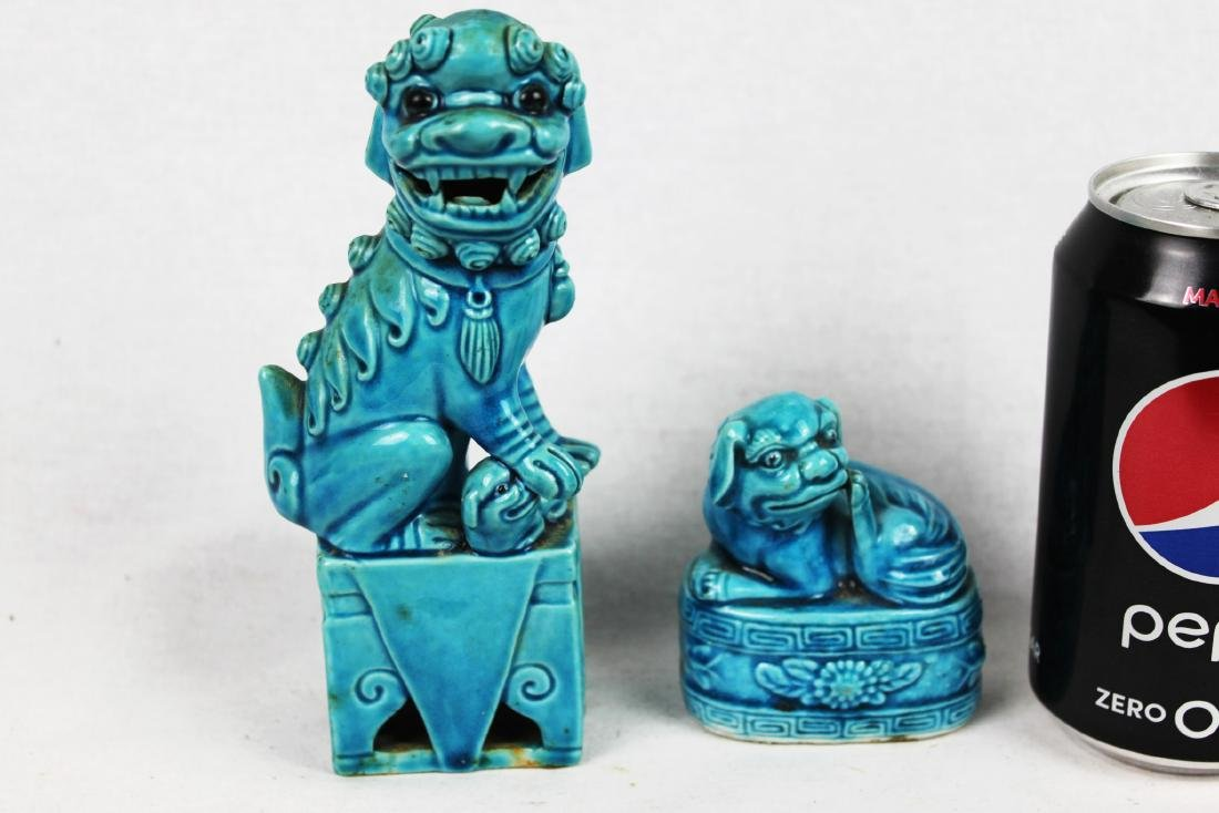 A Pair of Fu Dogs Statues