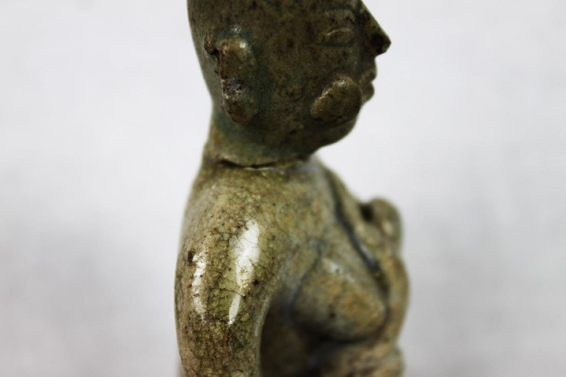 Hand Carved Pottery Statue - 5