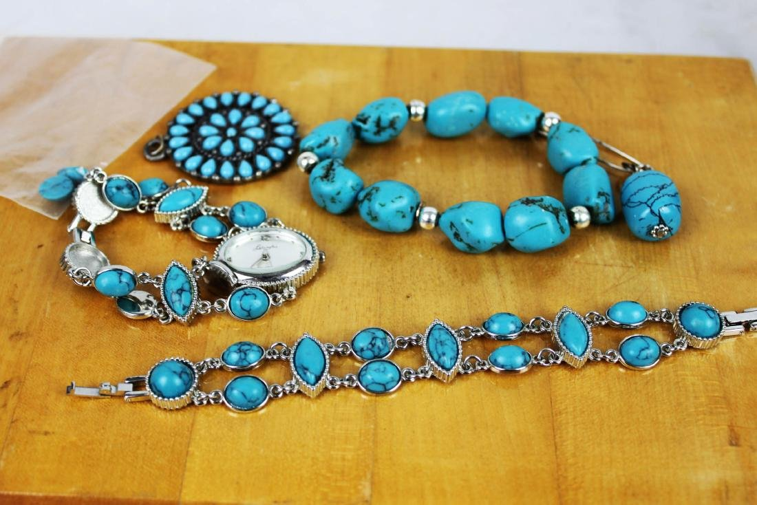 Five Pieces of Turquoise Made Jewlery