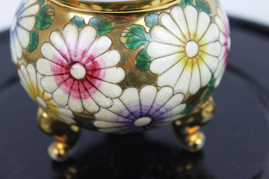 Antique Porcelain Cup Gild Painting outside - 4