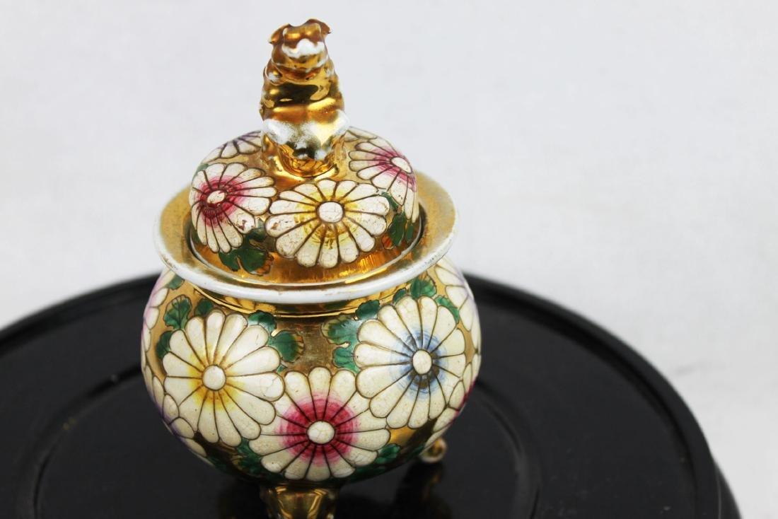 Antique Porcelain Cup Gild Painting outside - 5