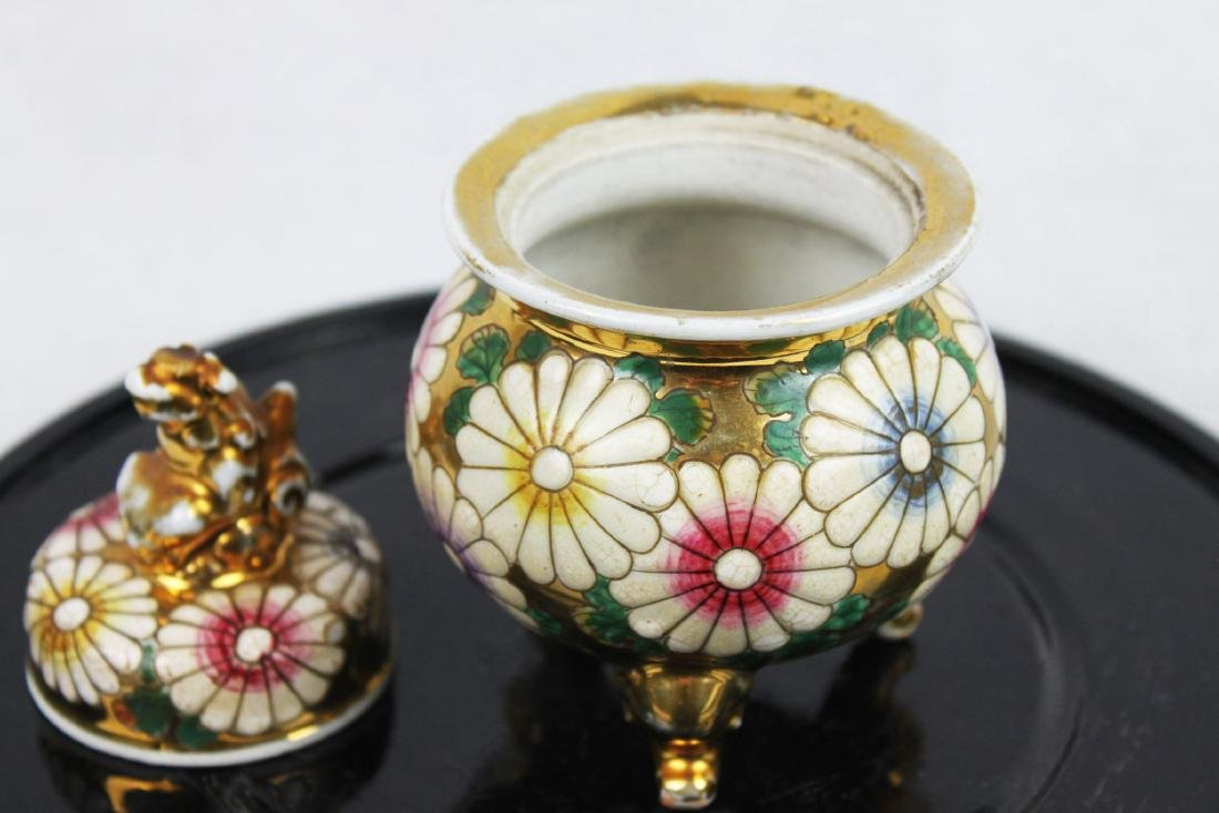 Antique Porcelain Cup Gild Painting outside - 6