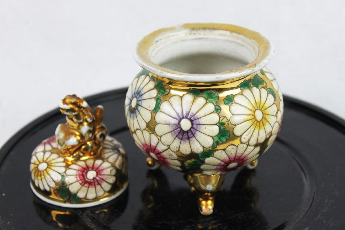 Antique Porcelain Cup Gild Painting outside - 7