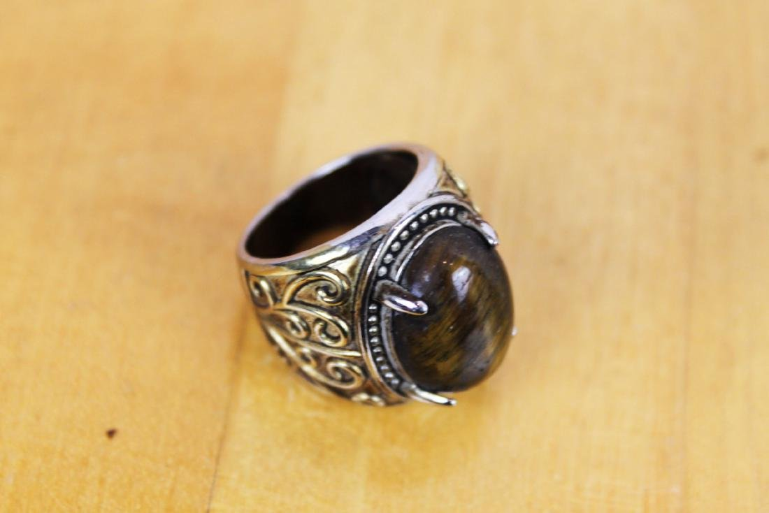 Antique Chinese Ring w/ Tigereye stone