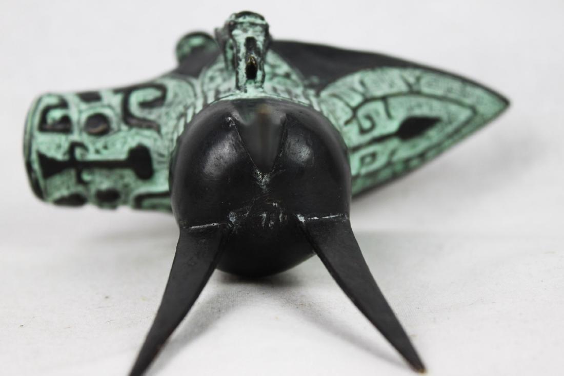 Antique Chinese Bronze Shot Glass - 2