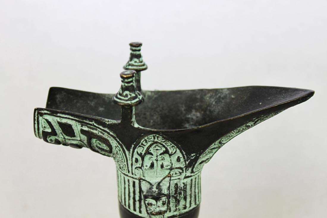 Antique Chinese Bronze Shot Glass - 4