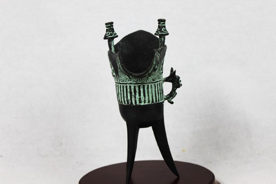 Antique Chinese Bronze Shot Glass - 6