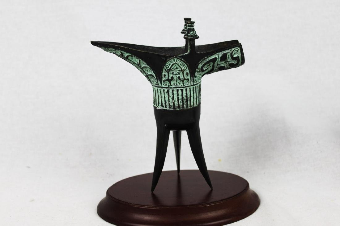 Antique Chinese Bronze Shot Glass - 7