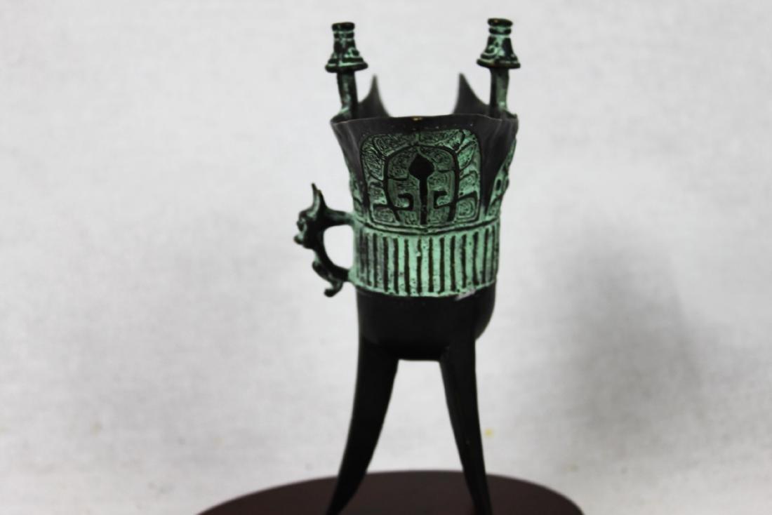 Antique Chinese Bronze Shot Glass - 9