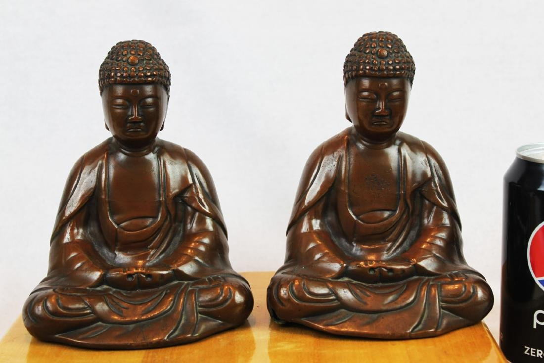 Two Antique Bronze Buddha Statues