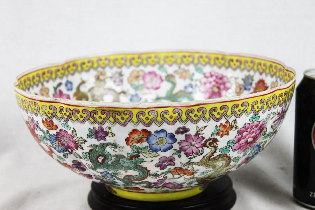 Antique Chinese Wucai Porcelain Bowl 19th Century