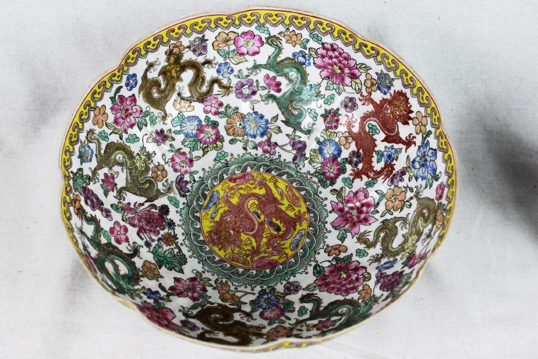 Antique Chinese Wucai Porcelain Bowl 19th Century - 2