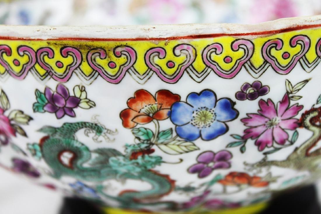 Antique Chinese Wucai Porcelain Bowl 19th Century - 7