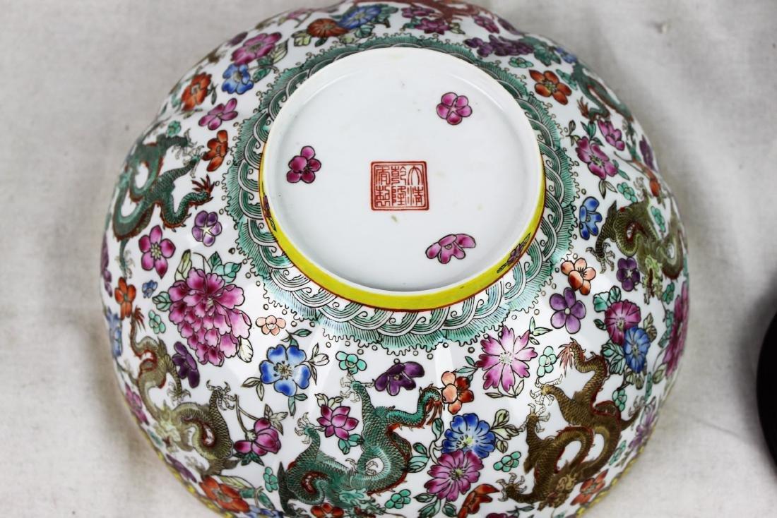 Antique Chinese Wucai Porcelain Bowl 19th Century - 8