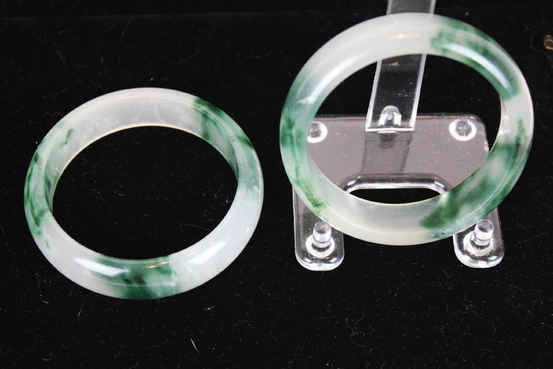 Two Green Jade Bracelets