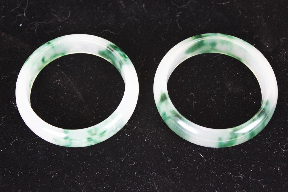 Two Green Jade Bracelets - 8