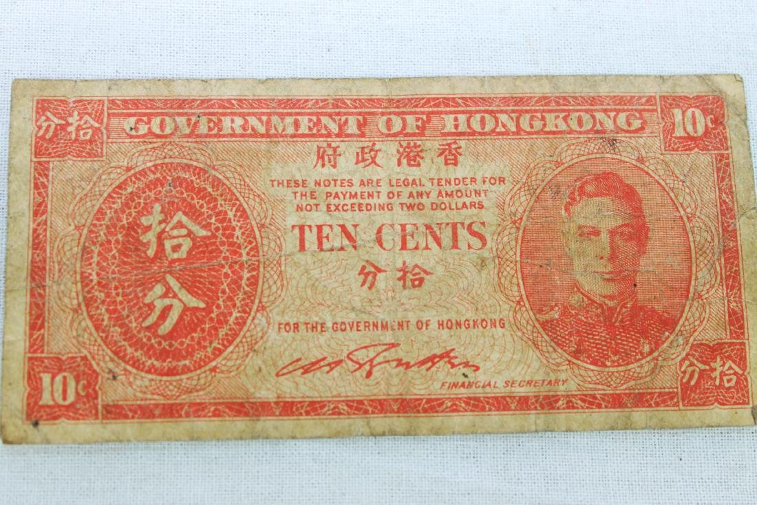 Antique Hongkong Bank Note-Money