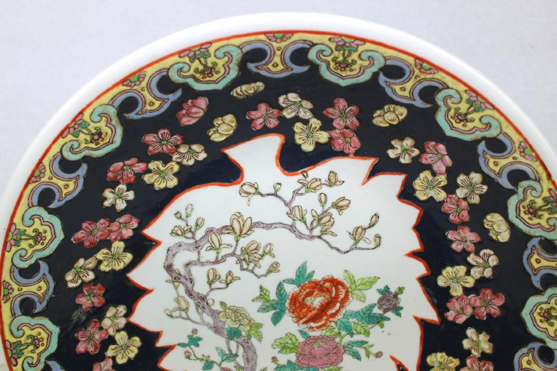 Large Antique Chinese Famille Rose Porcelain Plate - 2