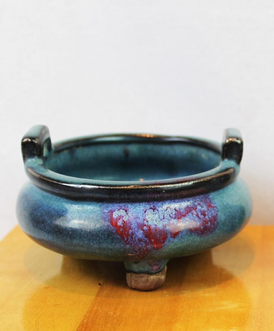 Chinese Jun Kiln Incense Burner