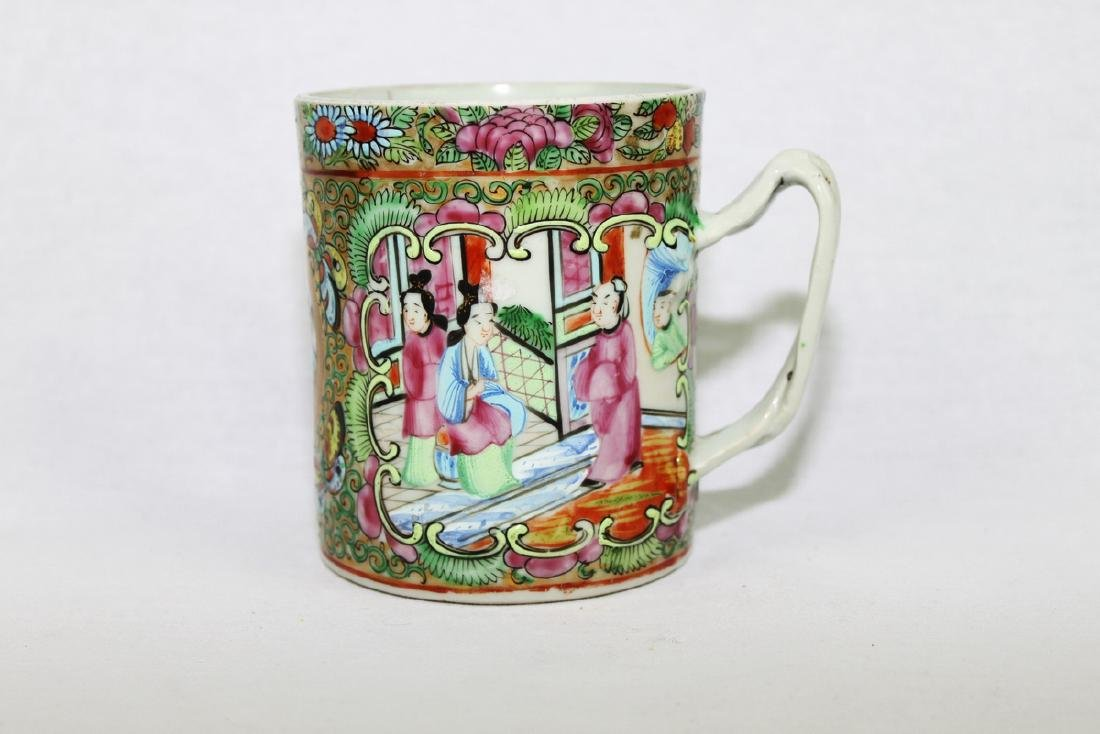 Antique Chinese Rose Medallion Mug
