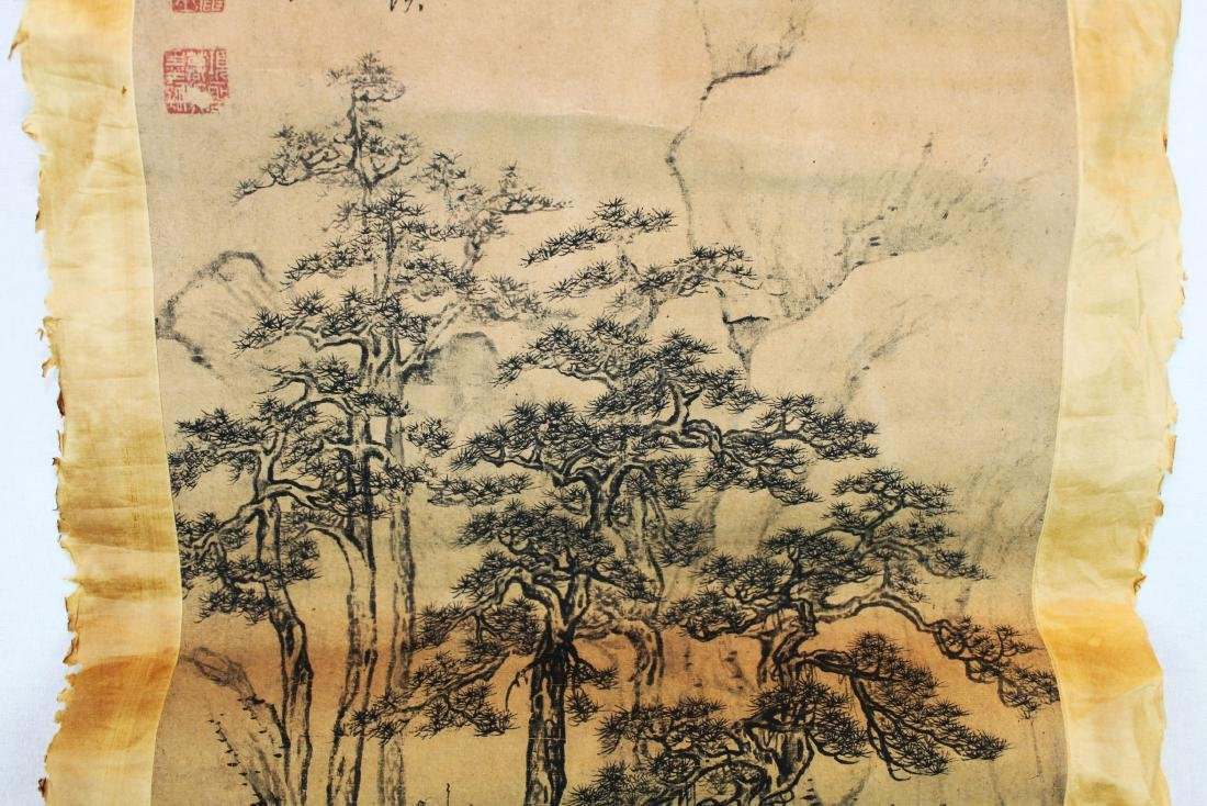 Antique Chinese Rice Paper Painting - 5