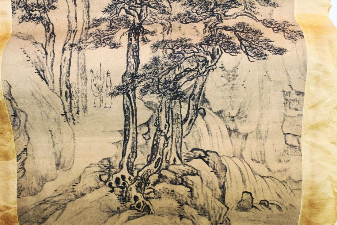 Antique Chinese Rice Paper Painting - 6