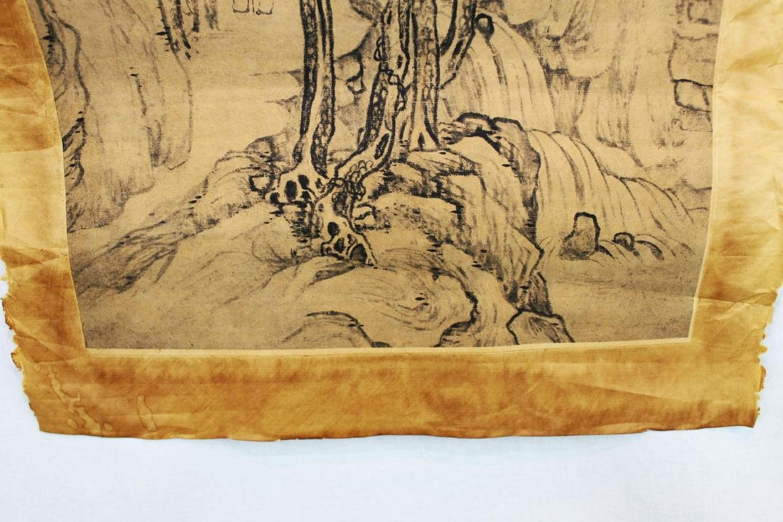 Antique Chinese Rice Paper Painting - 8
