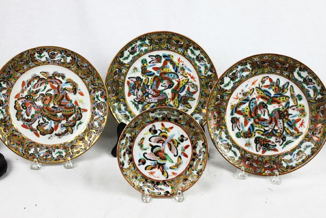 Four Antique Chinese Porcelain Plates