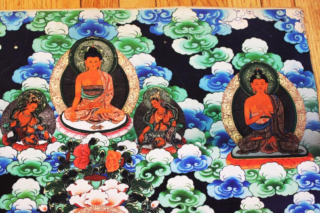 Antique Tibetan Tangka (Thangka, Thanka, Tanka) - 3