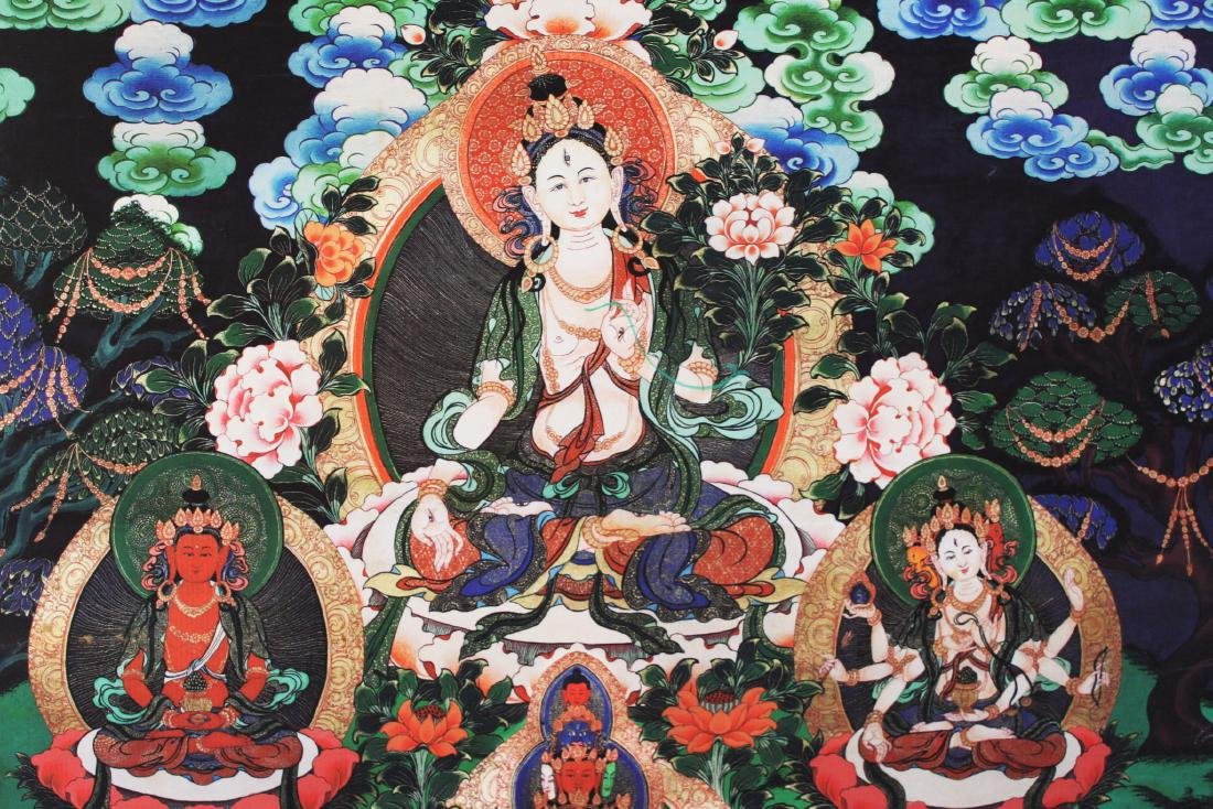 Antique Tibetan Tangka (Thangka, Thanka, Tanka) - 4