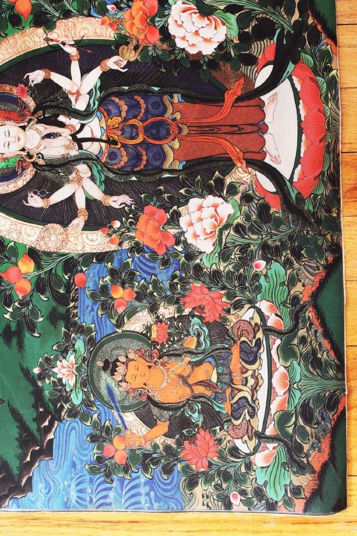 Antique Tibetan Tangka (Thangka, Thanka, Tanka) - 5