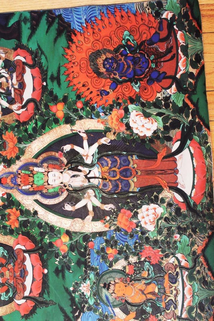 Antique Tibetan Tangka (Thangka, Thanka, Tanka) - 6