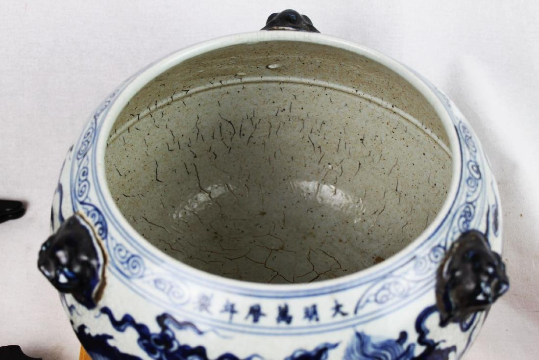 Antique Chinesxe Porcelain Pot from 1800s - 2