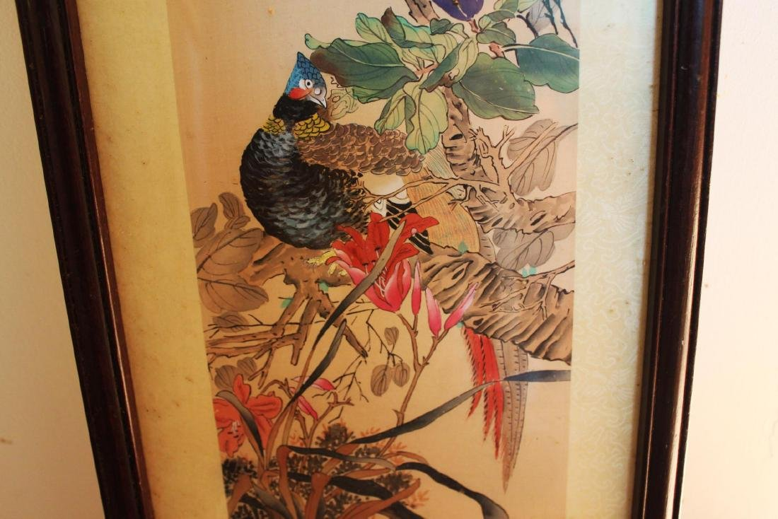 Antique Chinese Hand Color Painting - 5
