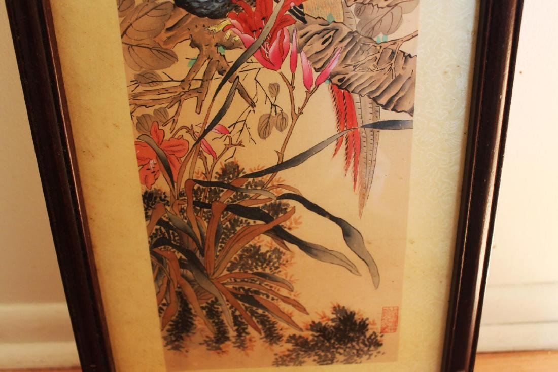 Antique Chinese Hand Color Painting - 6