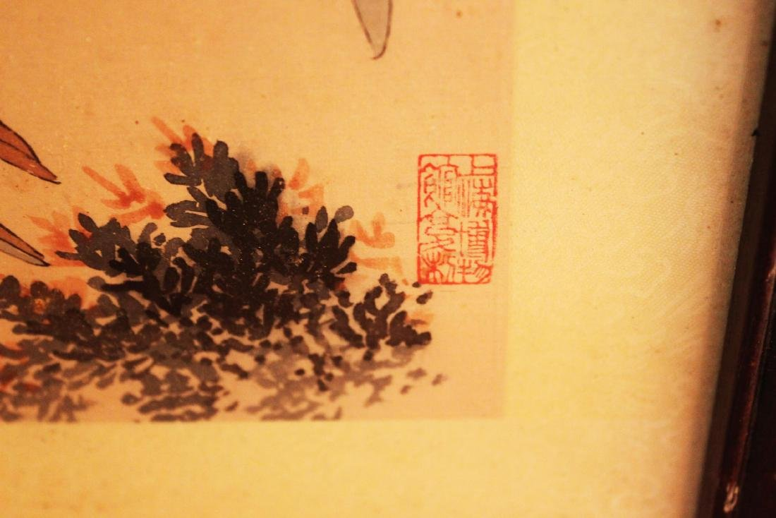 Antique Chinese Hand Color Painting - 7