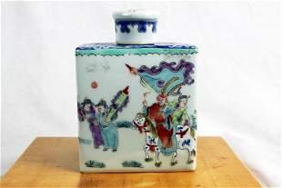 Antique Chinese Porcelain Bottle wCap